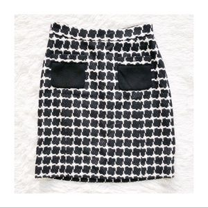 Carlisle Houndstooth Wool Skirt SZ6